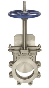 FNW 316L Stainless Steel 1-Way Flow Outside Stem and Yoke Lug Knife Gate Valve FNW67B