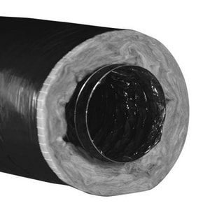 Hart & Cooley 8 in. 50 ft. R8 Polyethylene Flexible Air Duct in Black H20193
