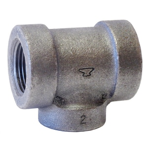 Threaded 125# Black Cast Iron Tee BCI