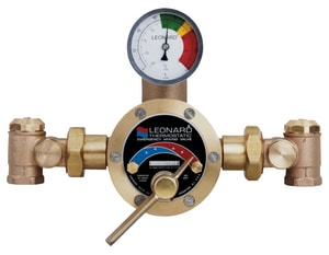 Leonard Valve Emergency Water Tub and Shower Mixing Valve in Rubbed Bronze LTM800RF