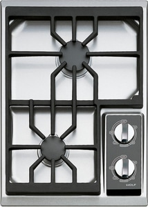 Wolf Range 15 in. 2-Burner Natural Gas Cooktop WCT15GS