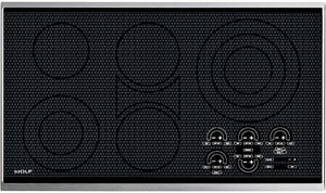 Wolf Range 36 in. Trim Electric Cooktop WCT36ES