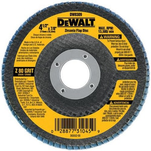 DEWALT 7/8 in. 80.000 µm Grit Flap Disc DDW8309