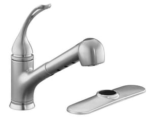 Kohler Coralais® 1 or 3-Hole Pull-Out Kitchen Sink Faucet with Single Lever Handle K15160-L