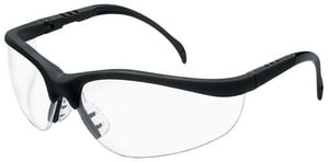 MCR Safety Klondike® Black Safety Glasses With Clear Lens CKD110