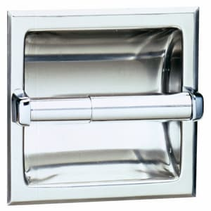 Bobrick 6-1/8 x 6-1/8 in. Recessed Toilet Tissue Dispenser BB667