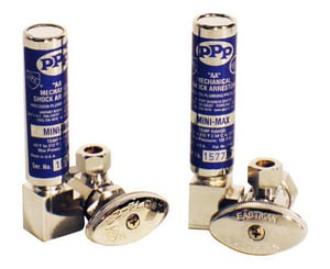 Precision Plumbing Products Compact Mini Angle Supply Stop Valve with Arrestor PMM500ASCP