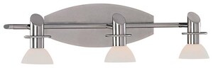 Minka Tiburon Bath 50 W 3-Light Halogen Bracket in Brushed Nickel M599384