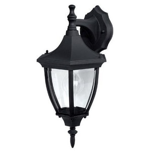Capital Lighting Fixture 8 in. 60 W 1-Light Medium Lantern in Black C9810BK