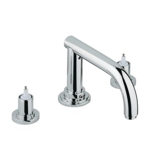 Grohe Atrio® 3-Hole Roman Tub Filler with Double-Handle in Starlight Polished Chrome G25048000