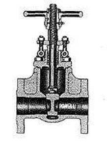 William Powell Co 300# Stainless Steel Flanged Outside Stem and Yoke Gate Valve P2467FM0TXXX