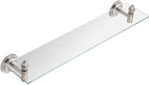Creative Specialties International Stockton® 24-1/2 in. Glass Shelf in Brushed Nickel CSIDN4190BN
