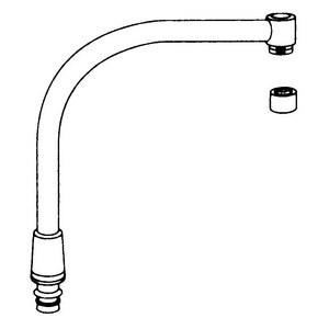 Moen Spout Assembly for Moen 8792 Single-Handle High Arc Kitchen Faucet M16264