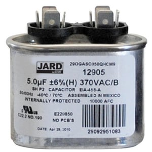 Motors & Armatures 5 mfd 370V Oval Run Capacitors MAR12905