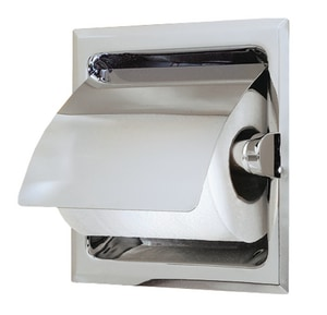 Gatco Recessed Paper Holder with Cover in Polished Chrome G785
