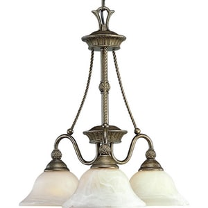 Progress Lighting Savannah 100W 3-Light Medium E-26 Incandescent Chandelier in Burnished Chestnut PP400786