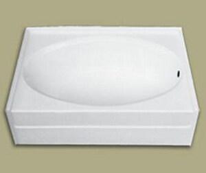 Florestone 59-3/4 x 42-1/2 in. Right-Hand Drain Full Apron Fiberglass Bath F6086FARH