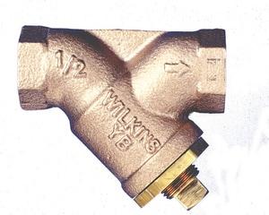 Wilkins Regulator Threaded Brass, Bronze, Cast Bronze and Stainless Steel Wye Strainer WYBC
