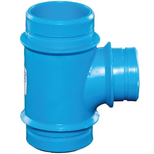 Orion Fittings Mechanical Joint Reducing and Sanitary Polypropylene Tee OR90T