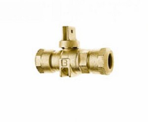 Cambridge Brass Compression Curb Stop Ball Valve C202NLH3H3