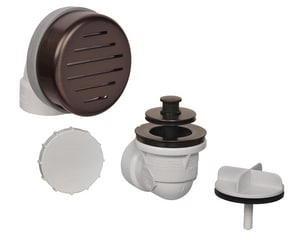 Weld-On 1-1/2 in. PVC Push Enhanced Lift Bath Waste and Overflow Drain I62092