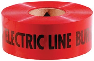 T. Christy Enterprises 6 in. Non-Detector Electrical Tape in Red CTAND6RE