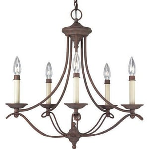 Progress Lighting Avalon 22-5/8 in. 60W 5-Light Candelabra E-12 Chandelier PP4057