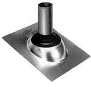 Nichols Manufacturing 1-1/4 - 2 in. Galvanized Roof Flashing with Collar NF142