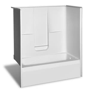 Aker Plastics 72 x 36 in. Tub and Shower with Right Hand Drain A141006000002002