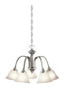 Kichler Lighting Hastings 14 in. 100W 5-Light Medium E-26 Ceiling Mount Chandelier KK2022