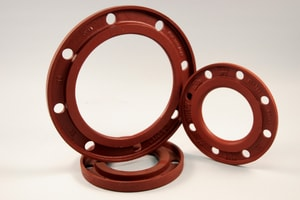 Ferguson Industrial Plastics Slip-On 267 psi SDR 7 Ductile Iron C110 Full Body Flange IBUPSDR7C