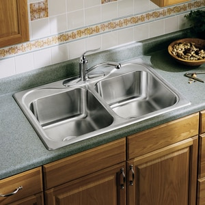 Sterling Plumbing Group Southhaven® 4-Hole 2-Bowl Kitchen Sink SF114024NA