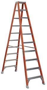 Louisville Ladder 28-9/16 in. 300 lbs. Fiberglass Double Step Ladder LFM1510