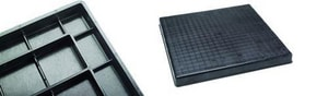 Polyvulc 38 x 42 x 2 in. Air Conditioner Pad Black PACP38422