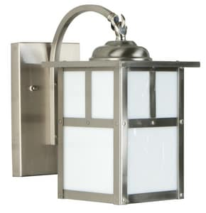 Craftmade International Mission 6 in. 60 W 1-Light Medium Lantern in Stainless Steel CZ1844SS