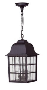 Craftmade International Grid Cage 60 W 3-Light Candelabra Lantern in Matte Black CZ571TB