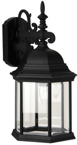 Craftmade International Hex 10 in. Depth 100 W 1-Light Medium Lantern in Matte Black CZ69405