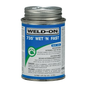 Weld-On PVC Cement in Blue I1249