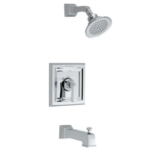 American Standard Town Square® 2-Hole Tub and Shower Trim Faucet with 1-Function Showerhead, Diverter Tub Spout and Single Lever Handle AT555502