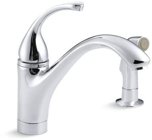 Kohler Forte® 2.2 gpm Single-Handle Deck Mount Kitchen Sink Faucet Swing Spout High Arc Spout 3/8 in. Compression Connection K10416