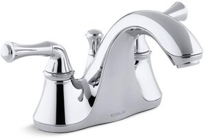 Kohler Forte® Centerset Lavatory Faucet with Traditional Double Lever Handle K10270-4A
