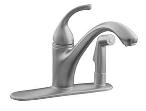 Kohler Forte® 3-Hole Kitchen Faucet with Single Lever Handle and Side Spray K10413