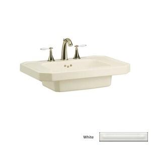 Kohler Kathryn® 3-Hole Bathroom Rectangular Lavatory Basin with 4 in. Faucet Centerset K2323-4