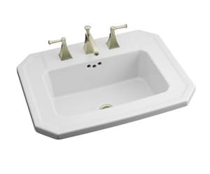 Kohler Kathryn® 24 x 19 in. 3-Hole Drop-In Lavatory Faucet K2325-8