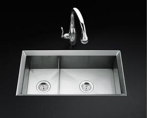 Kohler Poise™ 2-Bowl Undermount Kitchen Sink K3389-NA