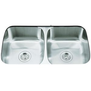 Kohler Undertone® 31 x 17 in. Double Basin Under-Mount Sink K3180-NA