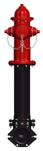 Mueller 5-1/4 in. Open Hydrant Less Accessories with Mechanical Joint Yellow MA423LAOLMJY