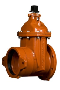 American Flow Control Ductile Iron Open Left Less Accessories Resilient Wedge Gate Valve AFC25TTLAOL