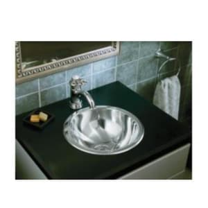 Sterling 13-5/8 in. Round Lavatory Sink Stainless Steel STE1310