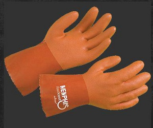 Memphis Glove Redcoat® L Size 10 in. Gauntlet PVC Glove Redcoat M6620L